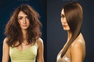 Tratamiento para alisar el cabello